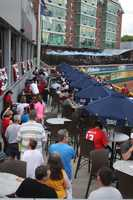 The stadium also houses the Samuel Adams Bar & Grill, which is a 4,600 square foot bar and restaurant with drinks, food, televisions and live music.