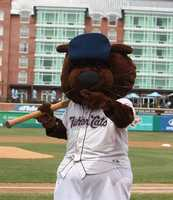 The team's mascot, Fungo, promotes wildlife education and sportsmanship.