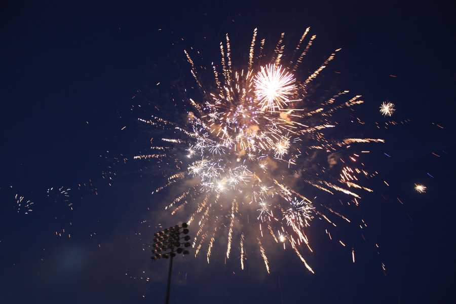 Throughout the season, the stadium features festive fireworks displays.