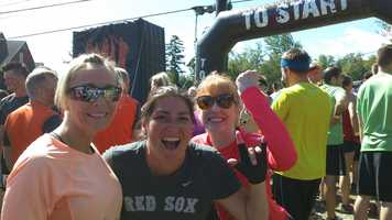 Mudders get pumped and ready to go at the start.