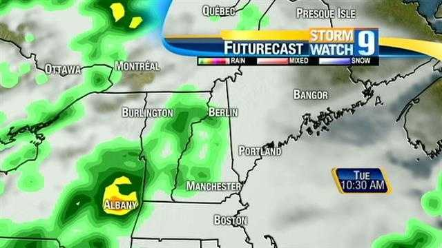Click through for an hour-by-hour look at the rain chances today.
