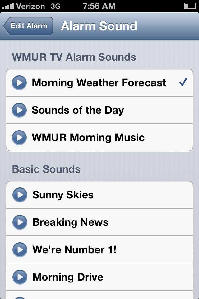 When you set the alarm, you chose the wake-up sound you want.