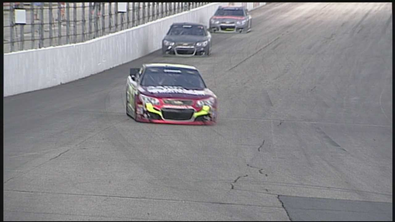 NASCAR drivers test NHMS track