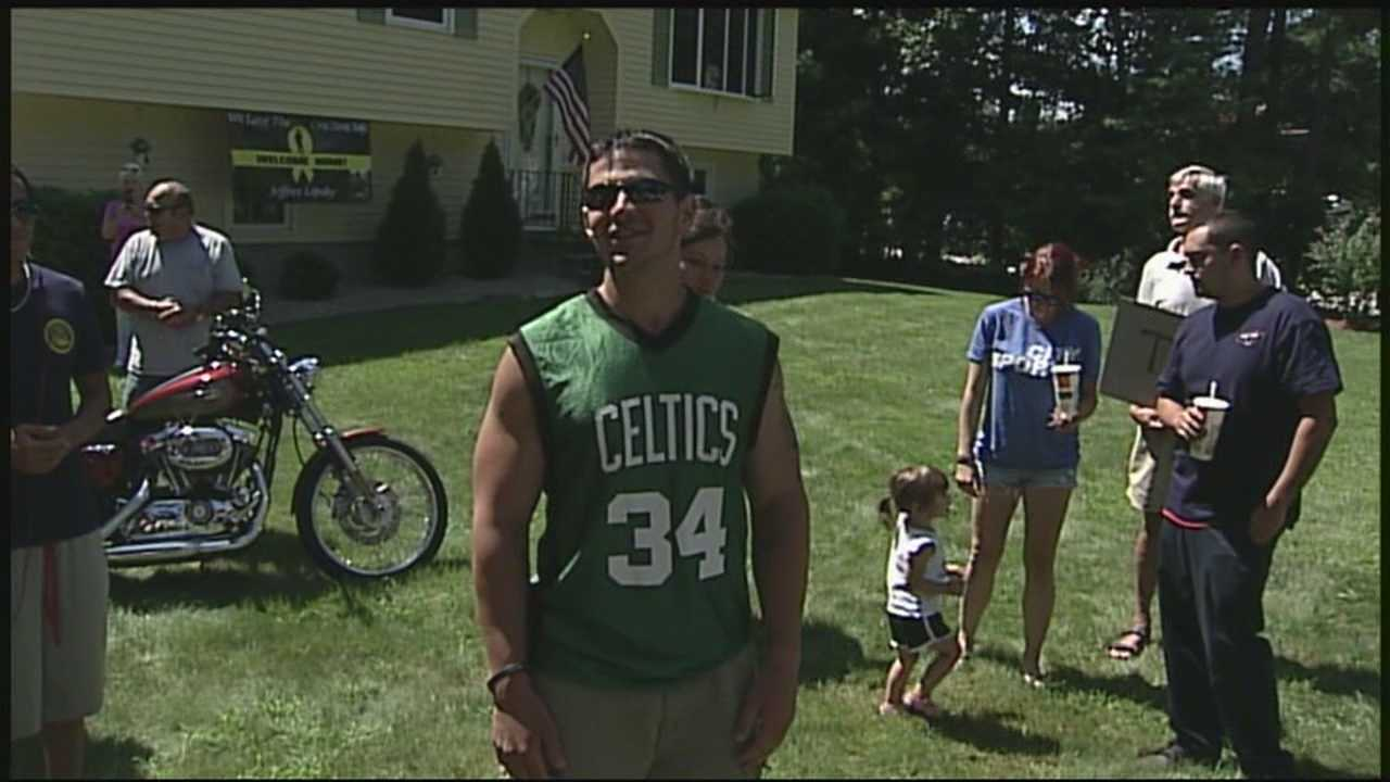 Hudson soldier gets warm homecoming