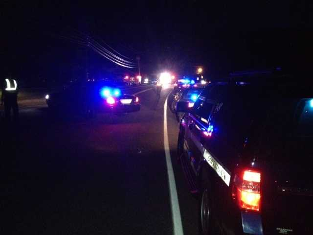A portion of Route 114 in Weare was shut down Wednesday night into Thursday morning near the intersection with Gould Road.