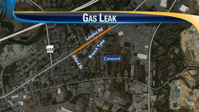 Concord gas leak