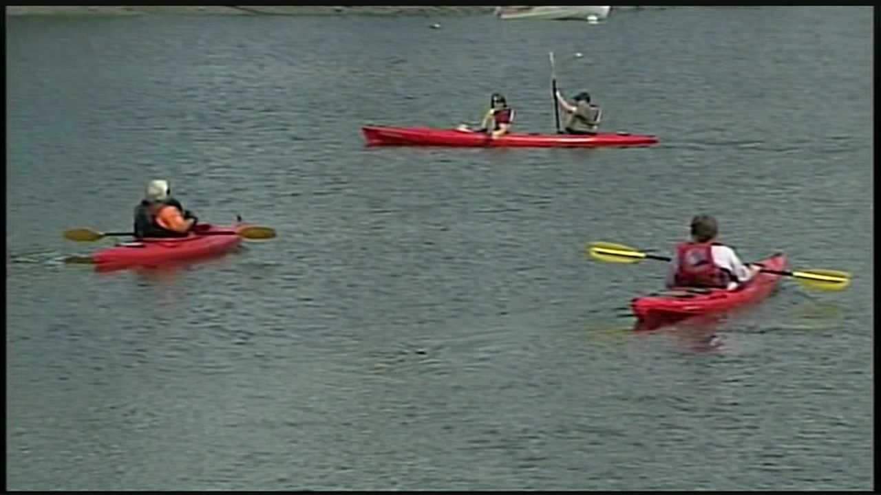 Getting through the Piscataqua River can be tough for any kayaker, but imagine trying to do it blind.