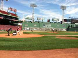 Reporters from the Boston-area and New York battled for seven innings on Friday, leading to an 8-7 walk-off win for the locals.