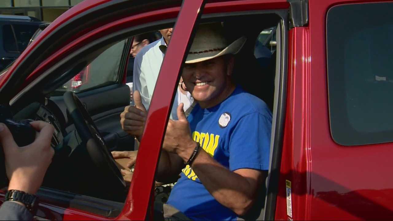 Marathon hero gets new truck