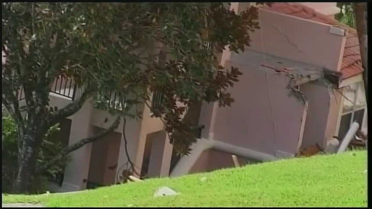 Family talks about sinkhole at timeshare