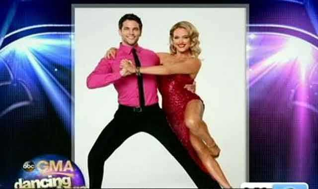 "Brant Daugherty of ""Pretty Little Liars"" dancing with Peta Murgatroyd"