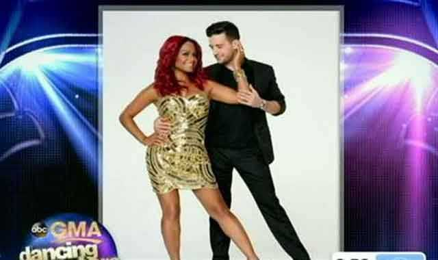 Christina Milian, singer, dancing with Mark Ballas