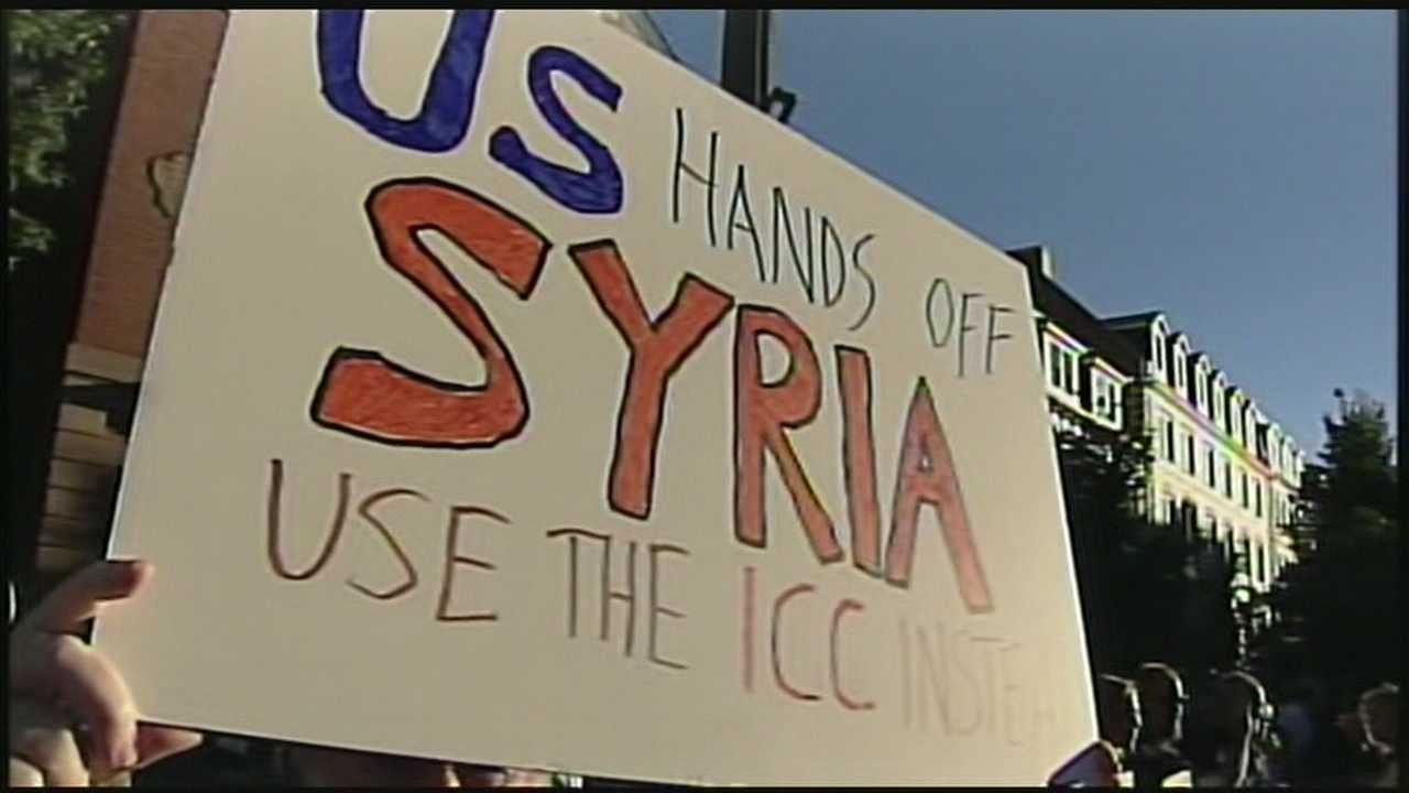 Protest about US in Syria