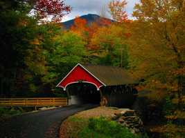 "The bridge was built across the Pemigewasset River. Pemigewasset means ""swift or rapid current"" in the Abenaki Indian language."