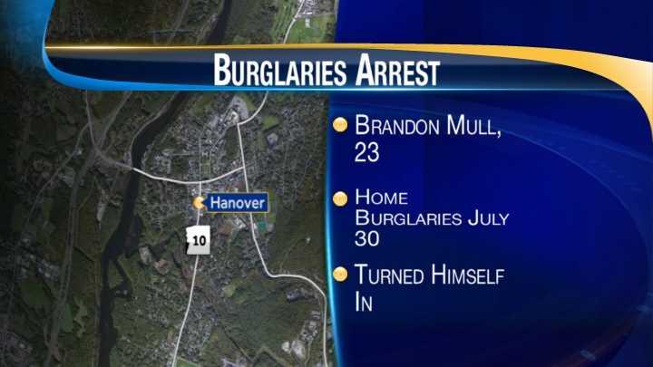 map-Hanover burglaries