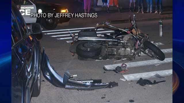 Motorcyclist injured in Manchester crash