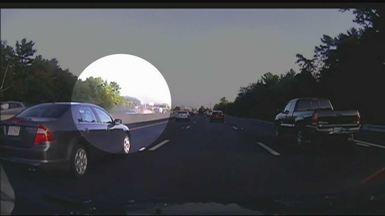 Dashboard video captures I-93 accident