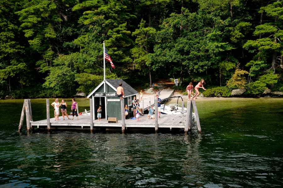 The Sophie C. delivers mail to several islands, serving residences and summer camps.