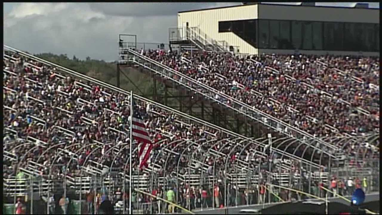 Tens of thousands of NASCAR fans packed into New Hampshire Motor Speedway to see their favorite drivers compete in the Sprint Cup Sylvania 300 on Sunday.