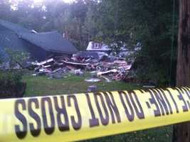 One person was injured in a home explosion in Conway on Monday afternoon, officials said.