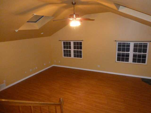 It has hard-wood floors throughout most of the home.