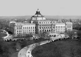 Most monumental building of its time - From 1886 to 1897, 300 men quarried and split 350,000 cubic feet of New Hampshire granite to build the Library of Congress, in Washington, D.C., the largest building in the world at the time.