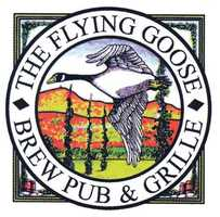Tie-9) Flying Goose Brew Pub and Grille in New London, N.H.