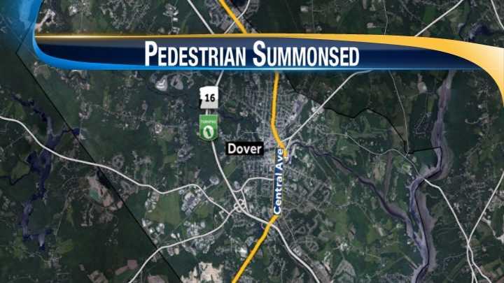 map-Dover pedestrian summoned