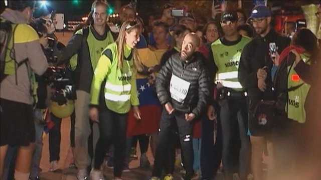 Chicago Marathon runner with muscular dystrophy
