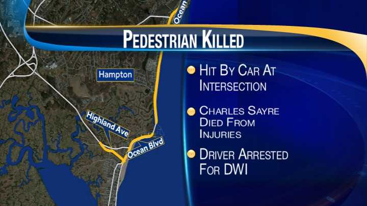 map-Hampton pedestrian killed