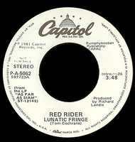 Clay Buchholz listens to Lunatic Fringe by Red Rider.