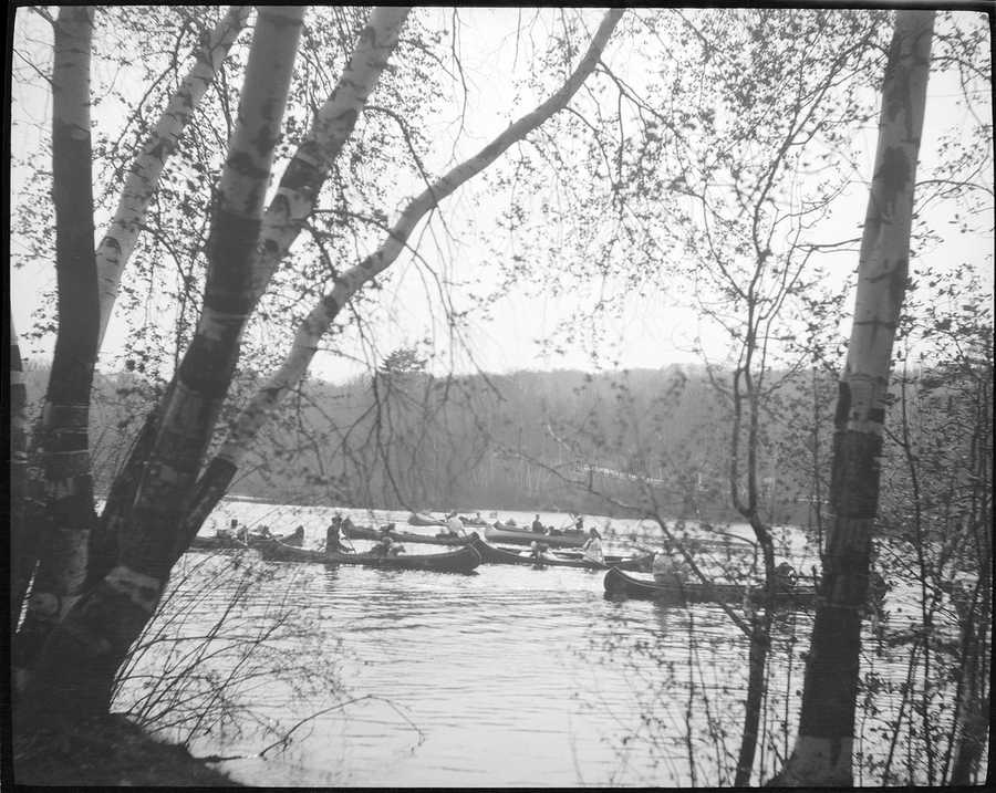 Canoeing on Jamaica Pond in 1918