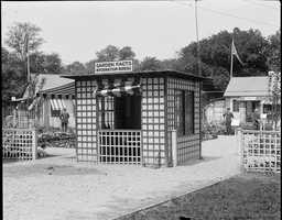 War garden entrance on Boston Common during war with Germany