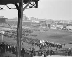 Catholic religious ceremony at Fenway Park in 1918