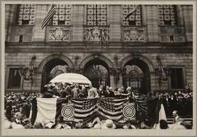 Boston Public Library. Copley Square. Selling liberty bonds in 1918