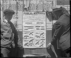 Poster describing German & British airships, Boston