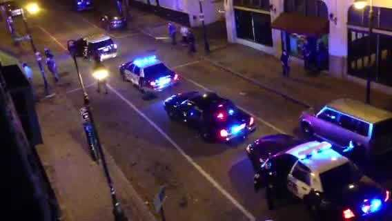 Manchester police said a 23-year-old man fired at least one shot into the air outside a bar on Elm Street early Saturday morning.