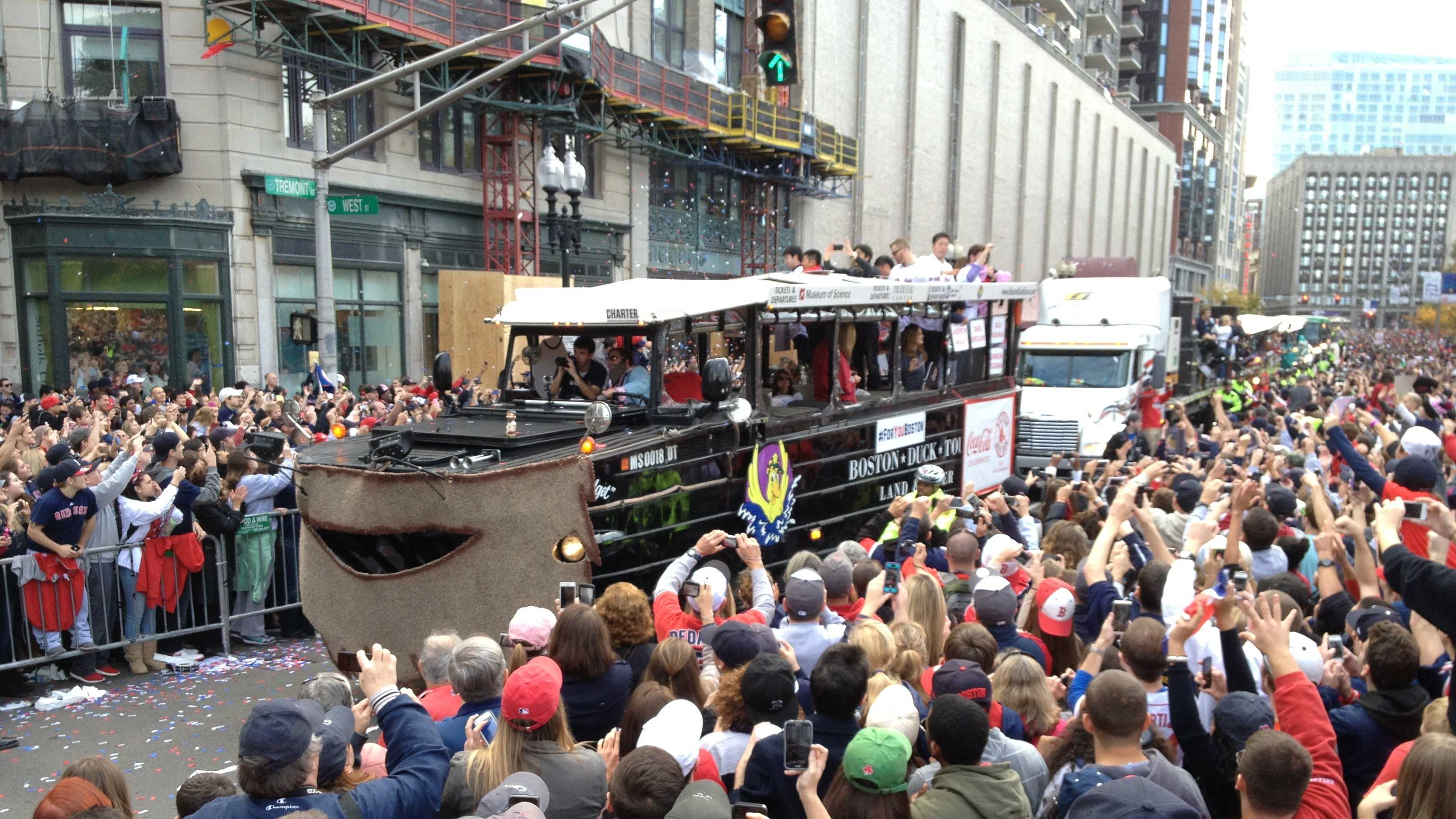 Red Sox duck boat parade