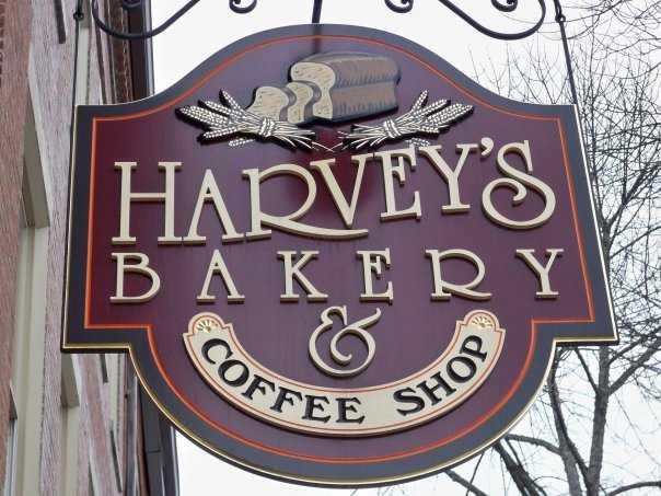 Tie-9) Harvey's Bakery & Coffee Shop in Dover.
