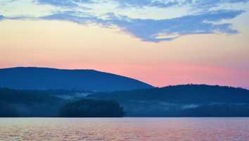 """Newfound Lake, """"A favorite summer resort with several small hotels and boarding-houses."""""""