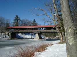 """Conway, """"On the Saco River, is a quieter center than North Conway for the many pleasant excursions of this region."""""""