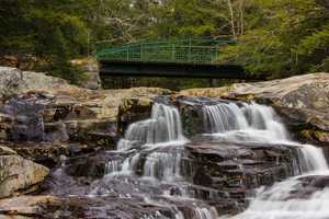 """""""The Jackson Falls on the Wild-Cat River are pretty. Good fishing. There is a small golf course attached to Wentworth Hall."""""""