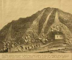 """The Willey House is a small inn that was the scene of a terrible disaster in August 1826.""""The whole Willey family, 9 in number, rushing from the house to escape a landslip, were overtaken and crushed, while the house escaped harm through the splitting of the landslide by a rock."""""""