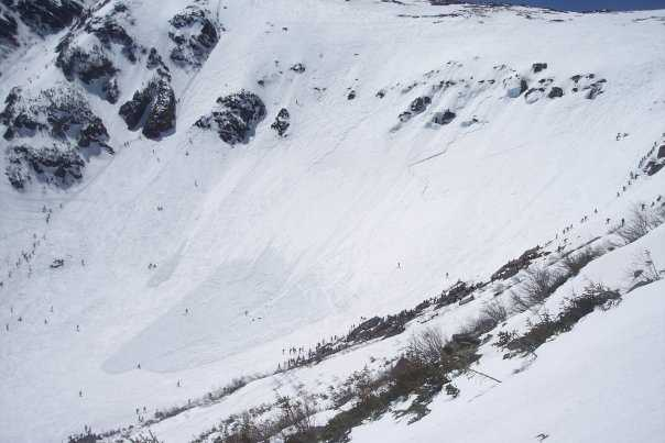 When's the likeliest month for an avalanche?