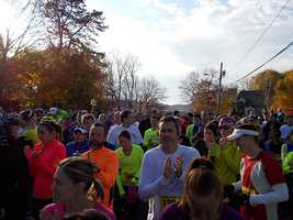 1,137 runners signed up for the 2013 Seacoast Half Marathon. The race sold out in August. It started on the hill next to Portsmouth High School.