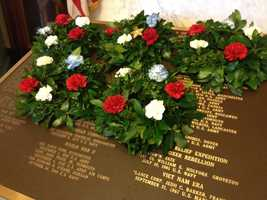 Wreath laid in Concord.
