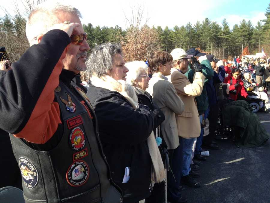 The next few photos were taken at a ceremony at a veterans cemetery.