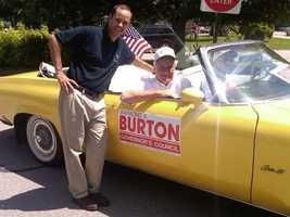 "Burton's re-election was such a foregone conclusion he earned the moniker ""Burton For Certain,"" which he later adopted and put on ball caps."