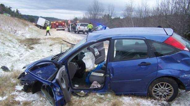 I-89 distracted driver crash