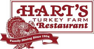 1) Hart's Turkey Farm Restaurant in Meredith.